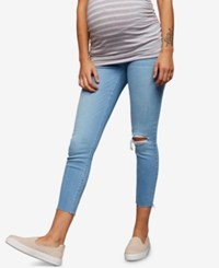 A Pea In The Pod Maternity Cropped Skinny Jeans Light Wash