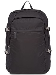 Prada Technical Fabric And Saffiano Leather Backpack Black