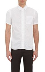 Kolor Men's Ruched Short Sleeve Shirt White