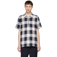 Paul Smith Ps By Purple Cotton And Linen Plaid Shirt