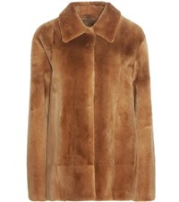 The Row Alon Fur Jacket Brown
