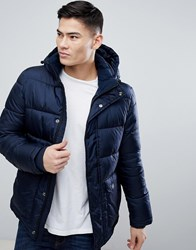 Kiomi Puffer Jacket With Detachable Hood In Navy