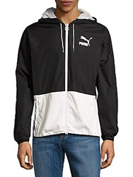 Puma Colorblock Zipper Jacket Black