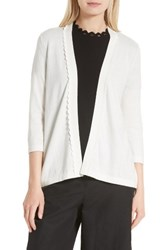 Kate Spade Women's New York Open Cotton And Cashmere Cardigan Cream