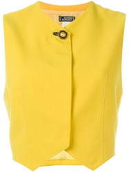 Versace Vintage Classic Gilet Yellow And Orange