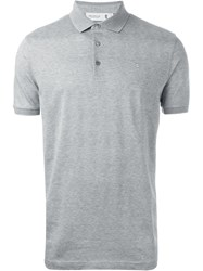 Pringle Of Scotland Knit Polo Shirt Grey