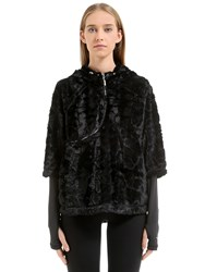 Freddy Curve Zip Track Jacket W Faux Fur
