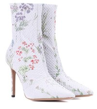 Altuzarra Exclusive To Mytheresa.Com Elliot Floral Printed Ankle Boots Purple
