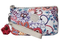Kipling Creativity Xl Printed Pouch Summer Dream Clutch Handbags White