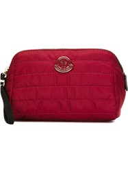 Moncler Quilted Make Up Bag Red