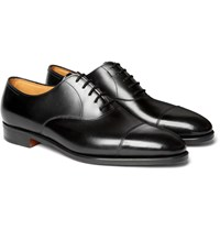 John Lobb City Ii Burnished Leather Oxford Shoes Black