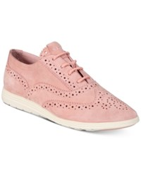 Cole Haan Grand Tour Oxford Sneakers Women's Shoes Silver Pink