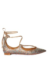 Aquazzura Christy Glitter Flats Multi