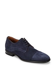 Aquatalia By Marvin K Leather Lace Up Shoes Navy