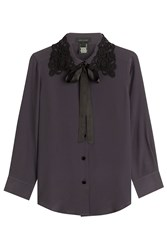 Marc Jacobs Silk Blouse With Embroidery Grey
