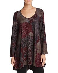 Nally And Millie Floral Print High Low Tunic Red Floral