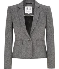 Austin Reed Black And White Tweed Jacket Multi Coloured