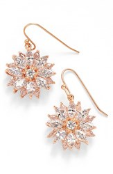 Women's Nina 'Floral' Crystal Drop Earrings Rose Gold