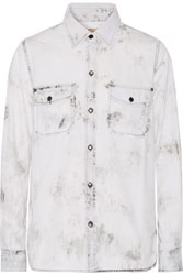 Current Elliott The Perfect Tie Dye Denim Shirt Gray