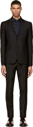Burberry Black Wool And Mohair Sterling Suit