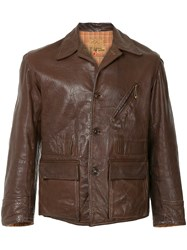 Fake Alpha Vintage 1940S Leather Jacket Brown