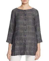 Eileen Fisher Petites Woven Button Front Tunic Denim