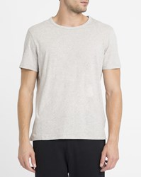 American Vintage Mottled Grey Fredonia Dry Jersey Round Neck T Shirt