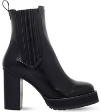 Kg By Kurt Geiger Storm Patent Leather Heeled Boots Black
