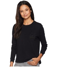 Rvca Pinner All The Way Long Sleeve Shirt Black Clothing