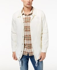 Lrg Men's Surfside Coaches Trench Jacket Off White