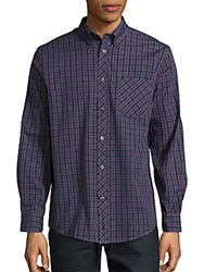 Ben Sherman Check Pattern Button Down Shirt Zifandel