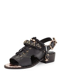 Ivy Kirzhner San Jose Cutout Leather Sandal Black