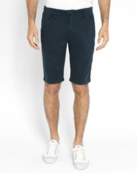 Knowledge Cotton Apparel Navy Blue Chino Shorts
