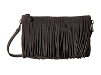 Mighty Purse Fringe X Body Bag Grey Suede Leather Cross Body Handbags Gray