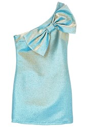 Mango Bow Cocktail Dress Party Dress Water Green Turquoise
