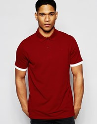 G Star G Star Polo Pitro Pique Contrast Detail In Red Dry Red