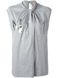 N 21 No21 Twisted Neck T Shirt Grey
