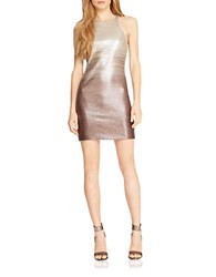 Halston Sequined Ombre Sheath Dress Champagne