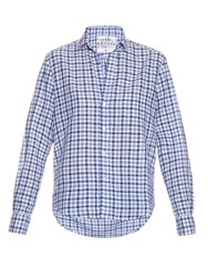 Frank And Eileen Eileen Gingham Cotton Chambray Shirt Blue White