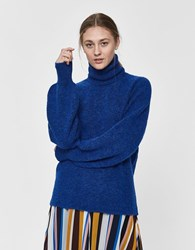 Just Female Blair Oversized Sweater Blue Surf