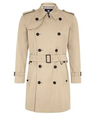 Aquascutum London Corby Double Breasted Trench Camel