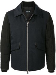 Cerruti 1881 Quilted Sleeve Colour Block Jacket 60