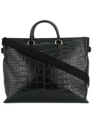 Orciani Large Top Handle Tote Black