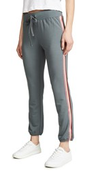David Lerner Classic Joggers With Tape Carbon