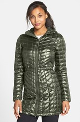 The North Face Women's Thermoball Tm Primaloft Hooded Parka Rosin Green