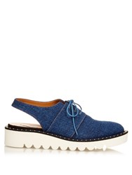 Stella Mccartney Odette Lace Up Slingback Brogues Denim