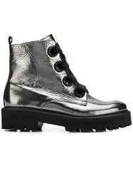 Kennel Schmenger And Metallic Ankle Boots Silver