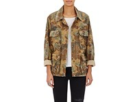 Amiri Women's Camouflage Cotton Studded Field Jacket Green