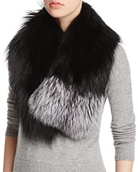 Maximilian Furs Fox Collar Black Silver