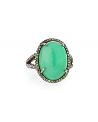Bavna Chrysoprase And Diamond Cocktail Ring